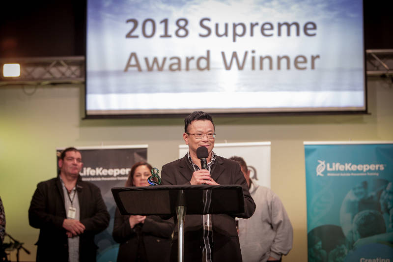 Brian Lowe, LifeKeepers 2018 supreme award winner.